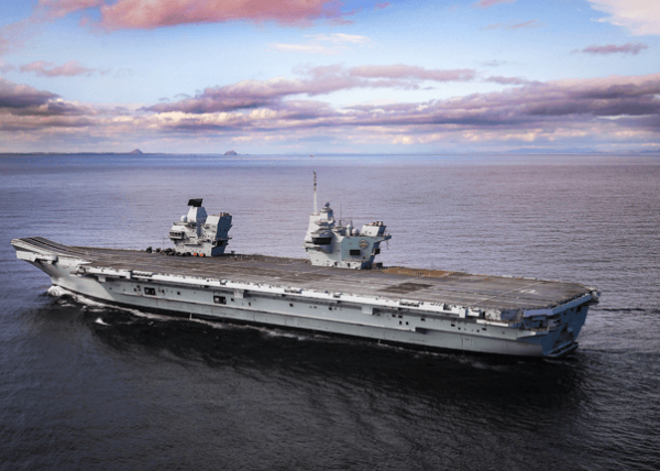 Prince of Wales Navy Vessel at Sea