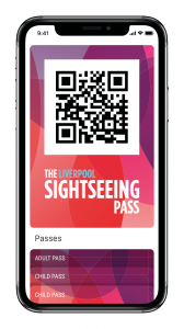 Example of the Liverpool Sightseeing Pass on a mobile